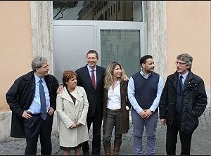 Gemma Azuni, Mattia Di Tommaso,  Paolo Gentiloni,  Ignazio Marino,  Patrizia Prestipino  David Sassoli.