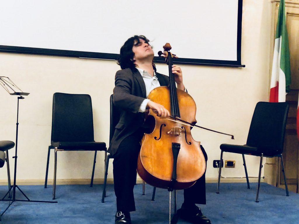 Concierto de Diego Carneiro en el IILA organizado por la Embajada del Ecuador en Roma